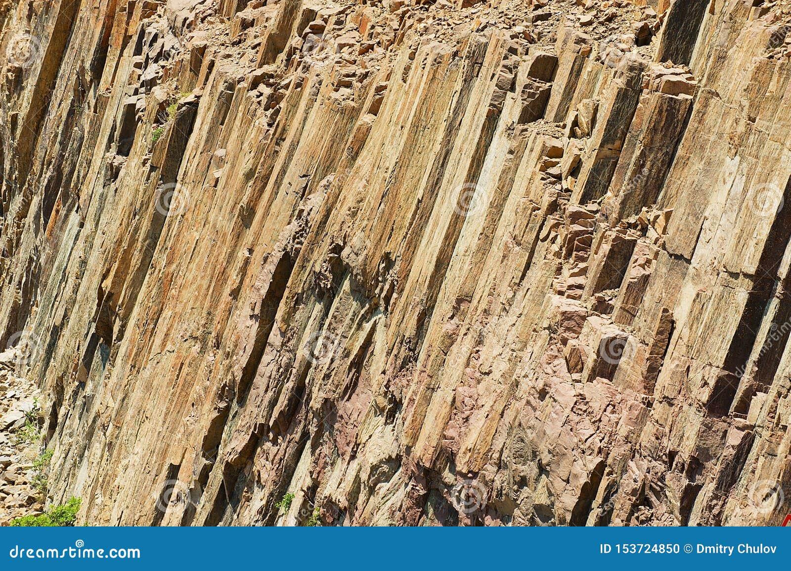 Columnas hexagonales del origen volc?nico en Hong Kong Global Geopark en Hong Kong, China