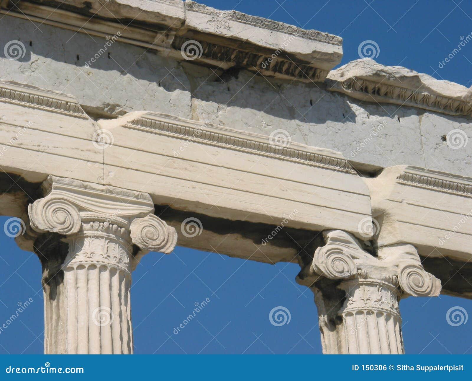 Columnas iónicas de Erechtheion, Atenas, Grecia