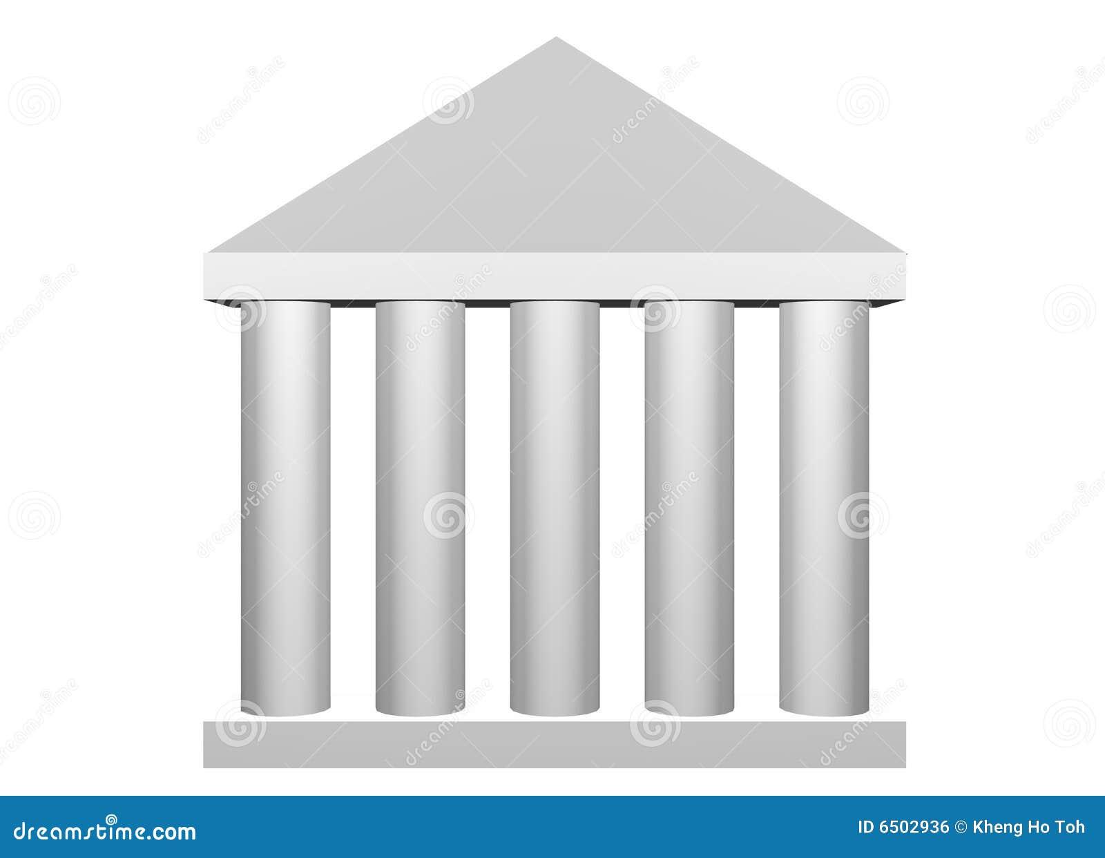 Columnas romanas de la ley y de la orden stock de for Pilares y columnas