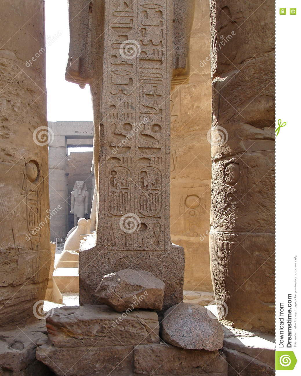 Ancient stone carved egyptian hieroglyphics stock images