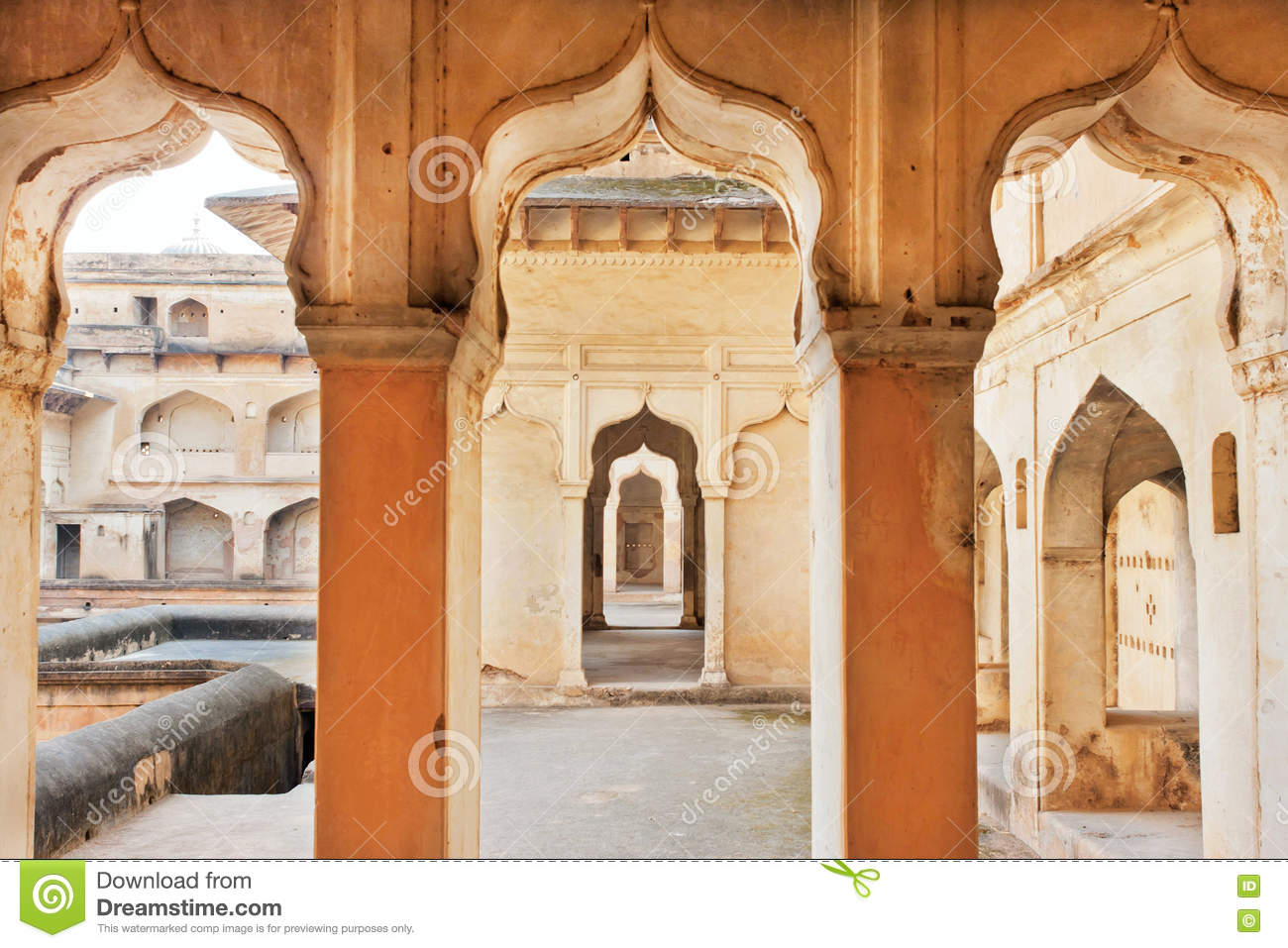 Download Columns And Arches Of An Ancient Palace Built In Indo Islamic Style India