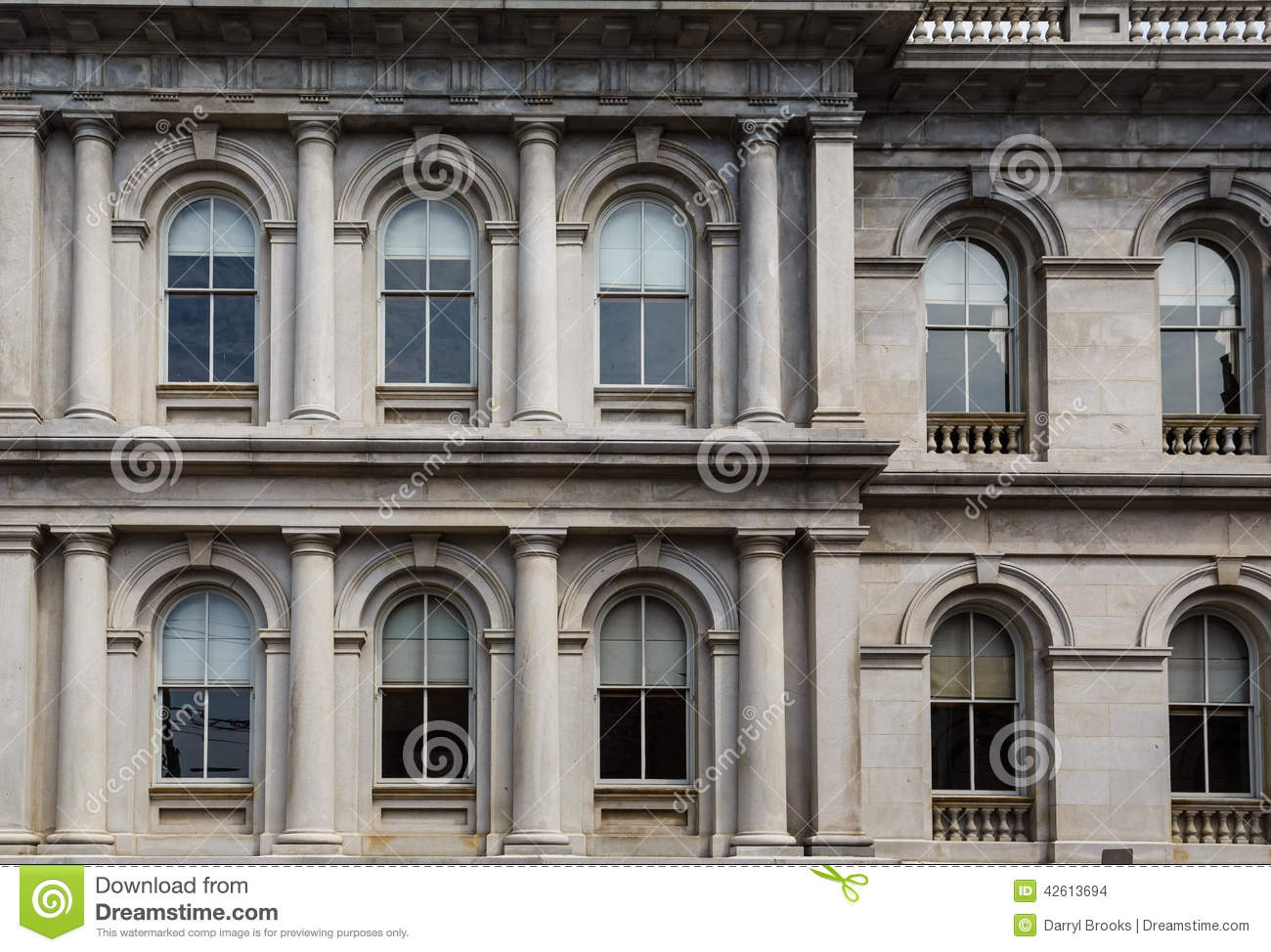 Columns and arches in classic stone building stock photo for Classic builders