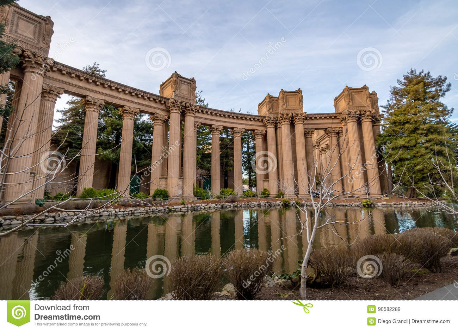 Columns Of The Palace Of Fine Arts San Francisco California Usa