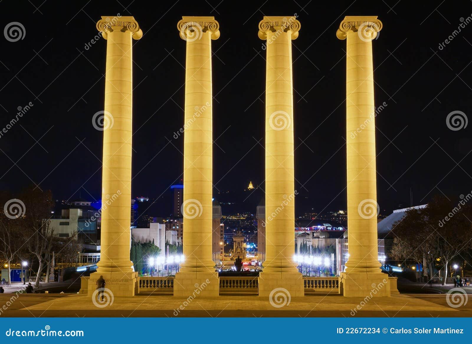 Download Columns On The Placa De Espanya Stock Photo - Image of attraction, landmark: 22672234