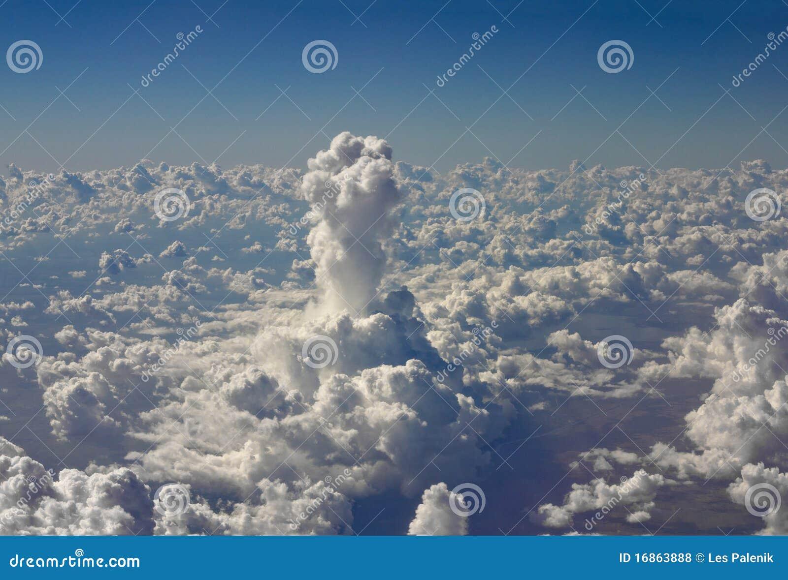 Coluna alta incomun da nuvem