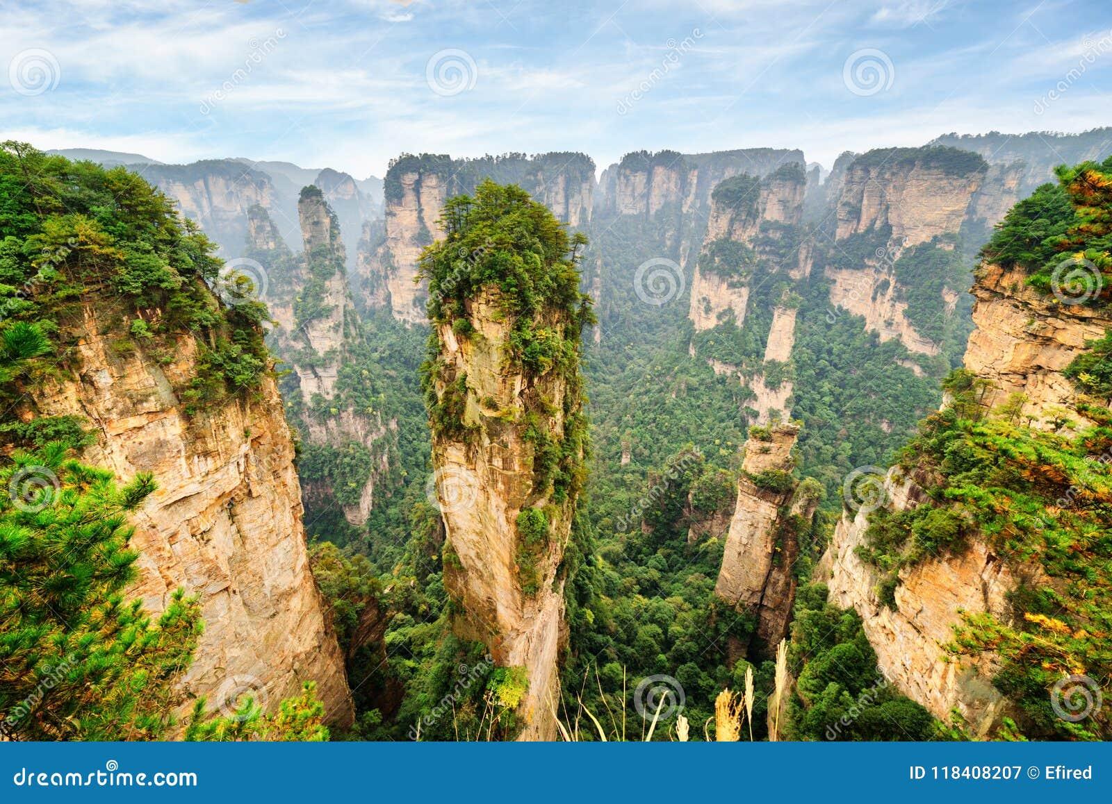 Coluna bonita do arenito de quartzo a montanha da aleluia do Avatar