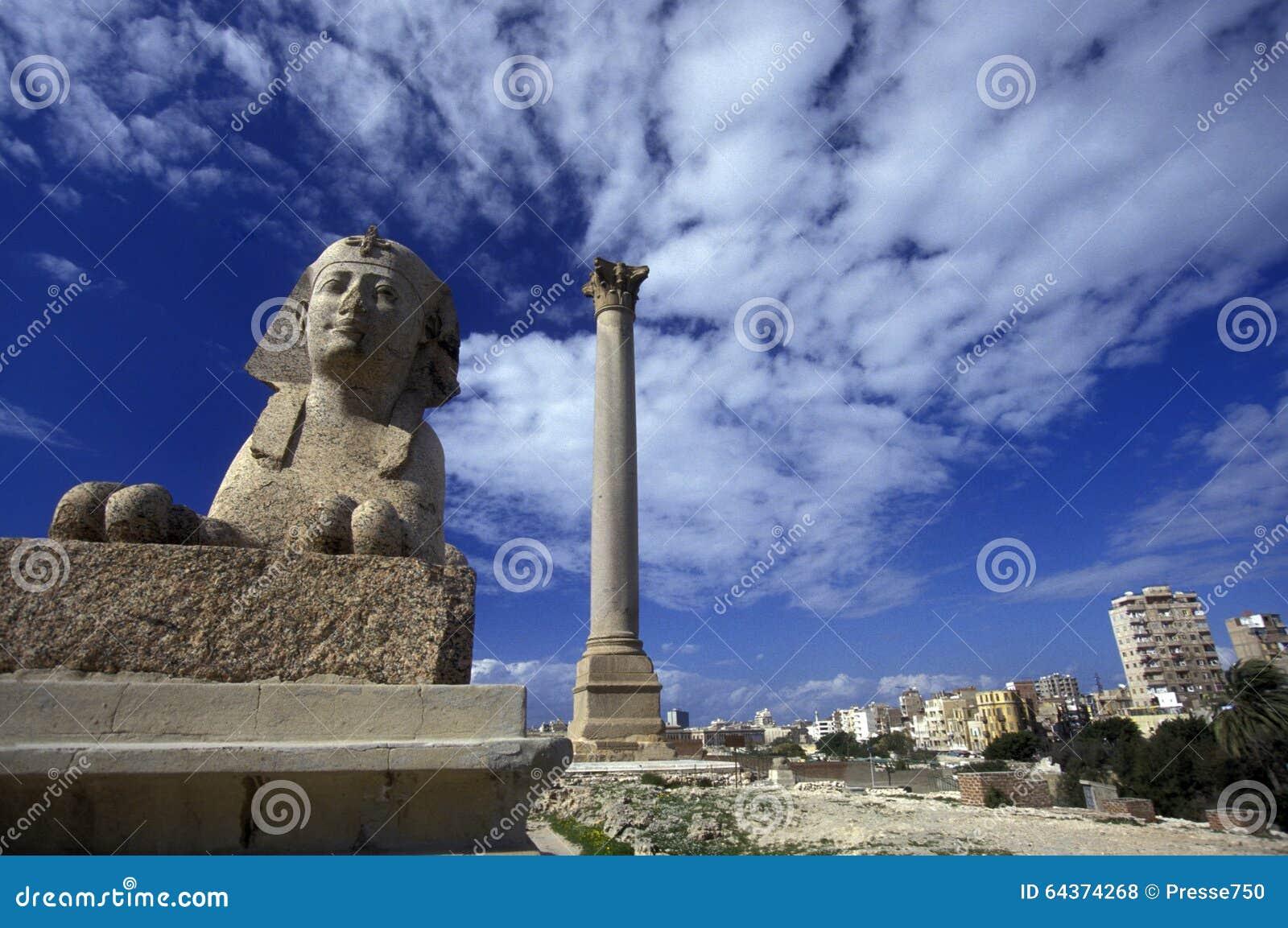 COLUNA DA CIDADE POMPEY DE ÁFRICA EGIPTO ALEXANDRIA