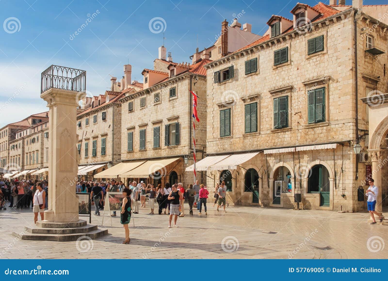 Coluna de s de Stradun e de Orlando   dubrovnik Croácia