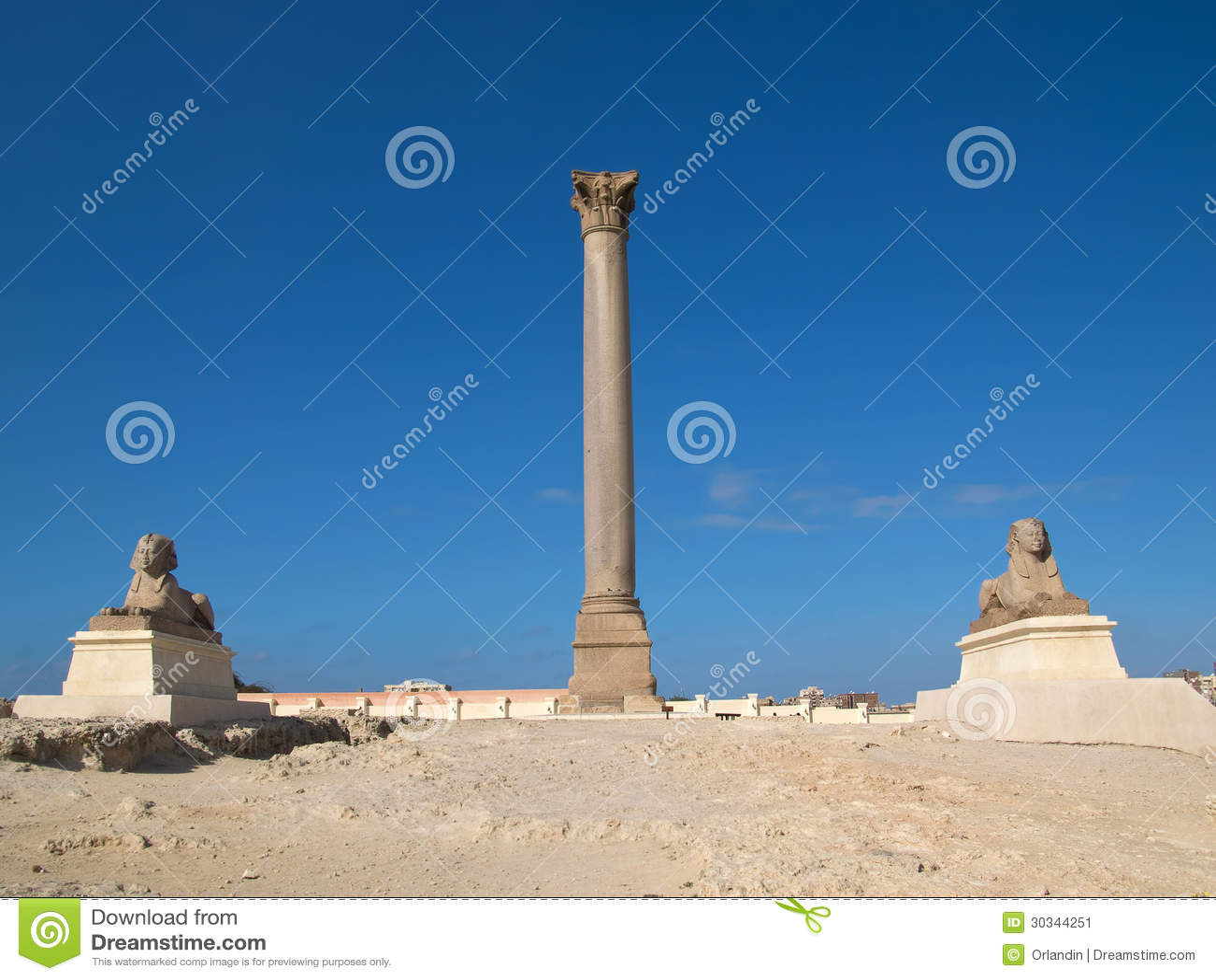 Coluna do ` s de Pompey em Alexandria