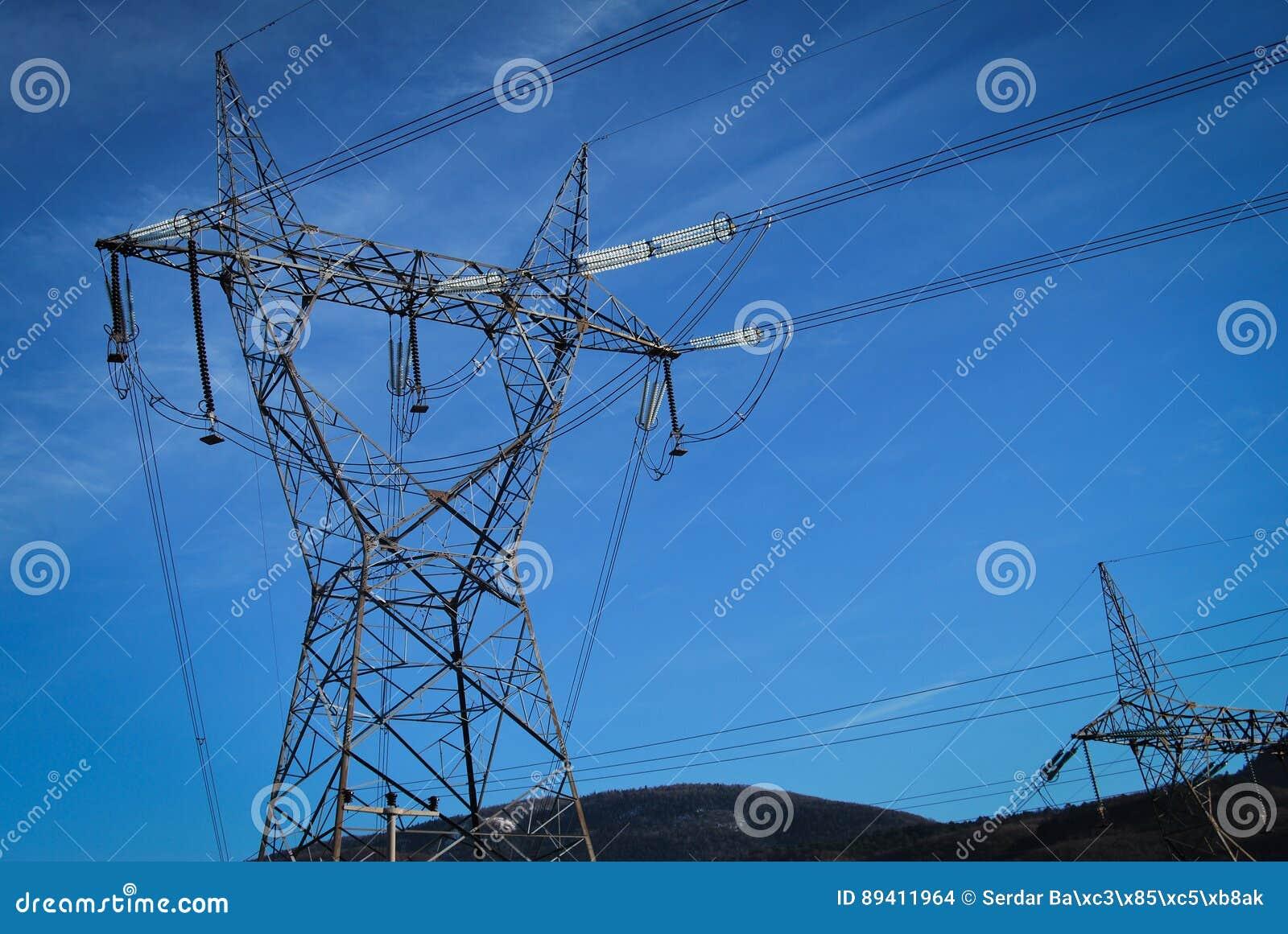 Coluna elétrica de alta tensão