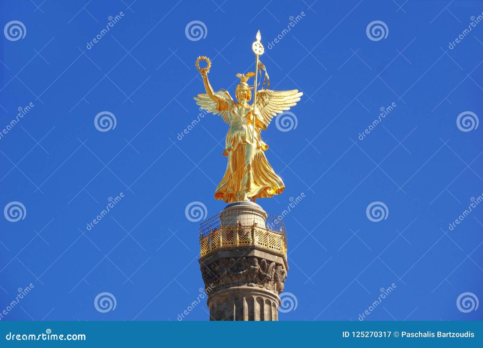 A coluna Siegessauele da vitória em Berlim - Alemanha