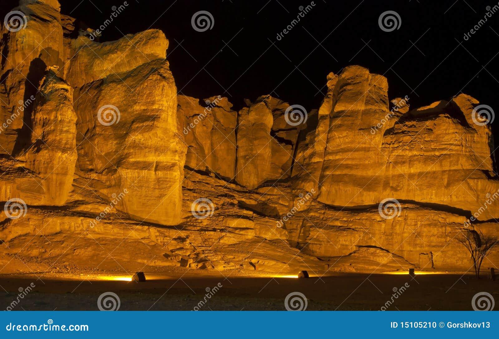 Colunas de Solomon no parque de Timna