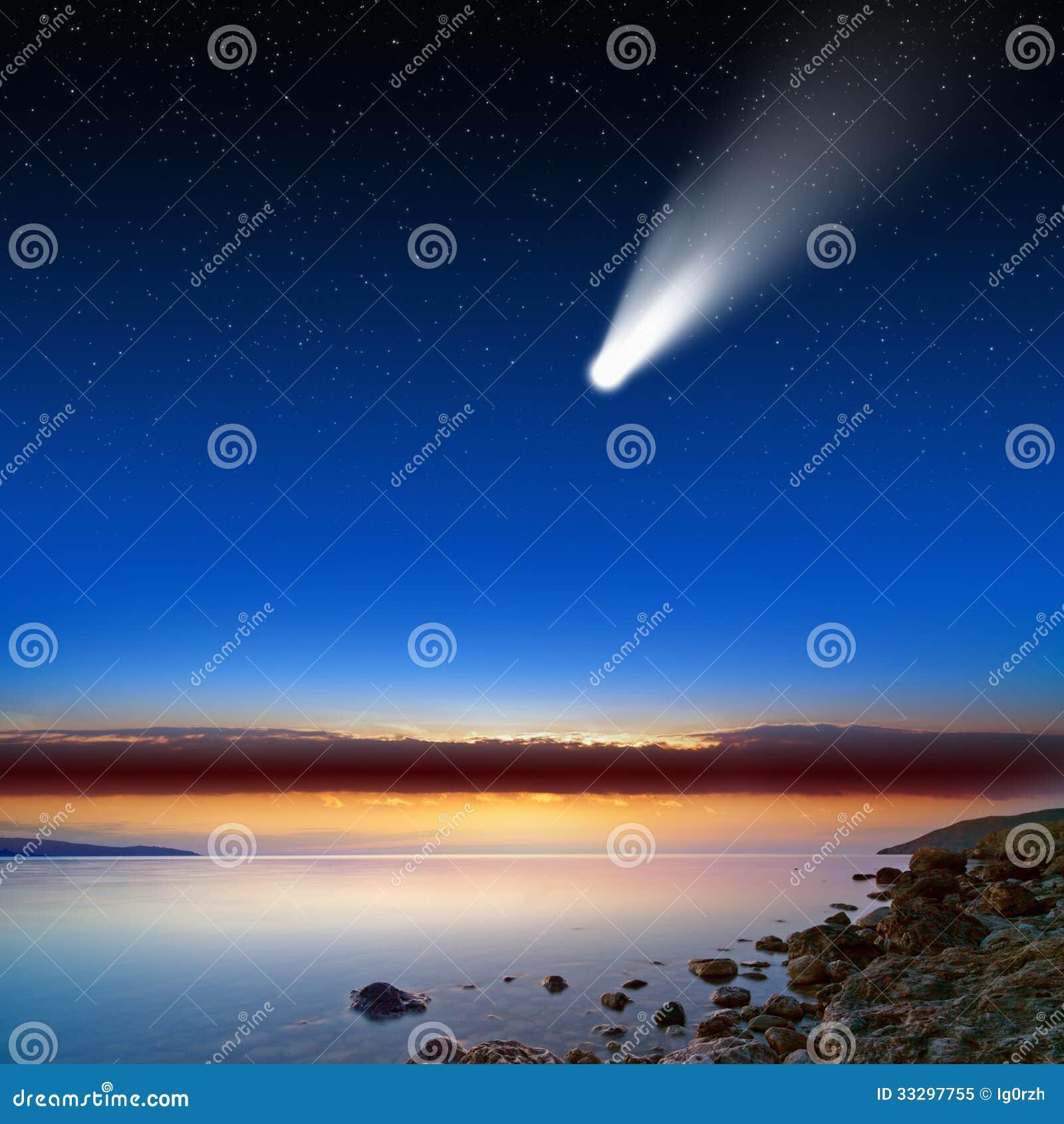 Comète en ciel