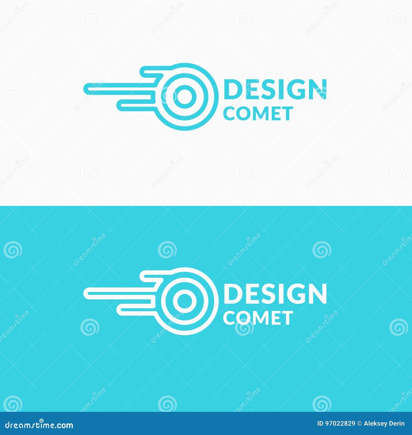 Comète linéaire de logo Signe pour la société de transport