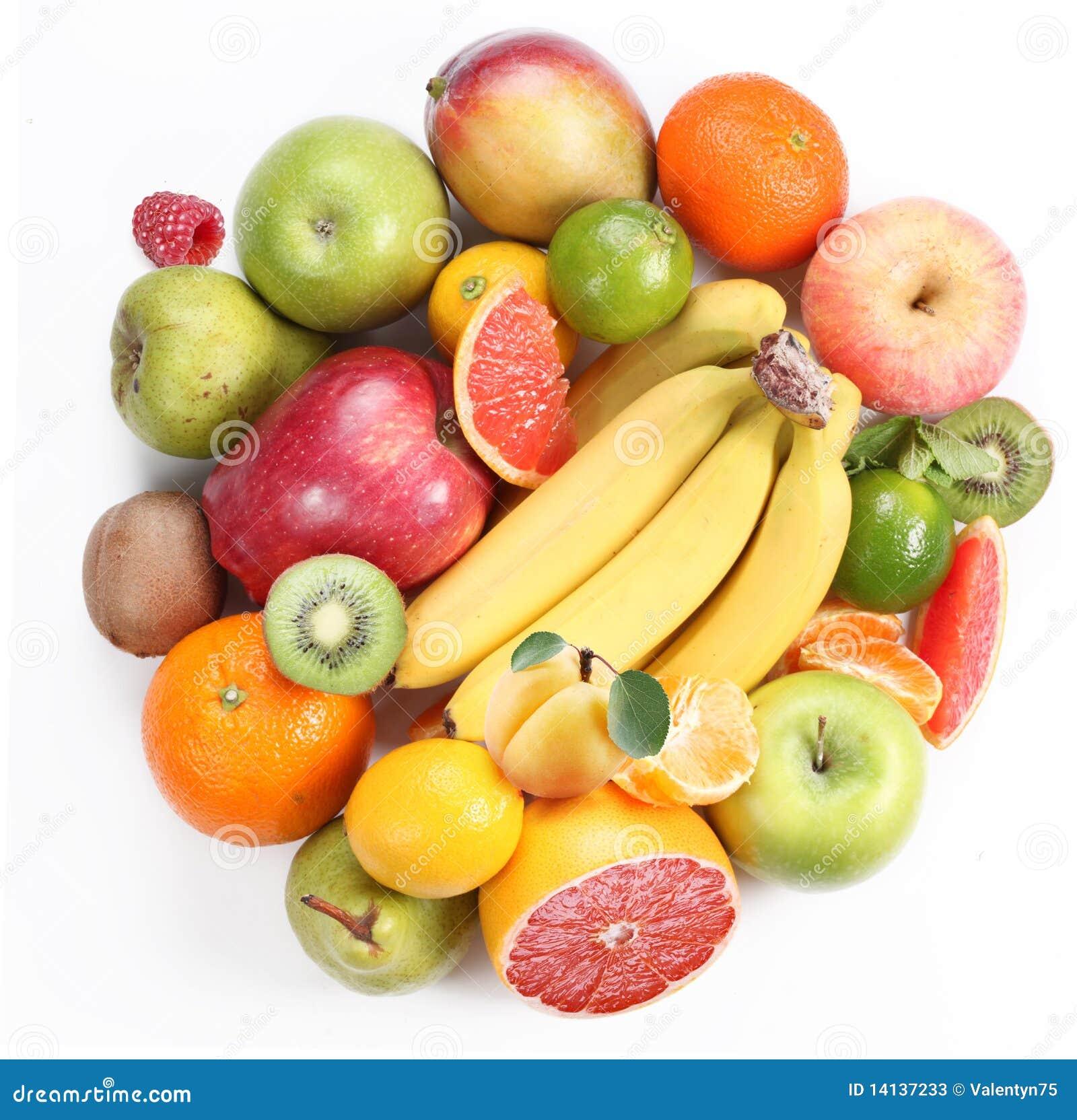Com fruta sob a forma de um círculo