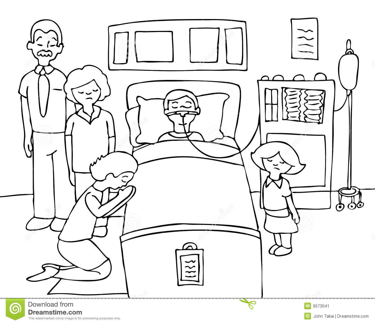 Coma Child Black And White Stock Vector Illustration Of
