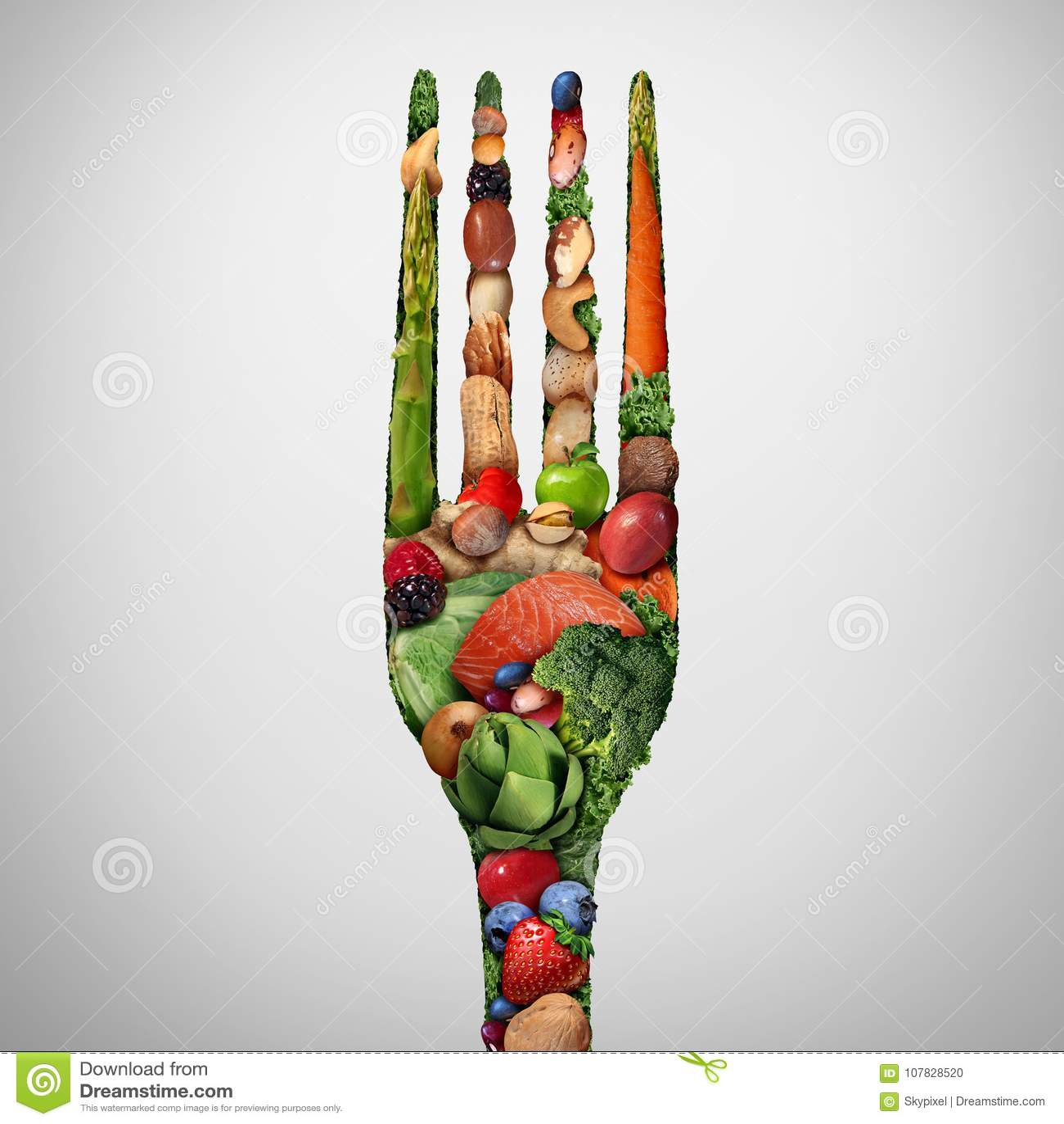Coma el alimento sano