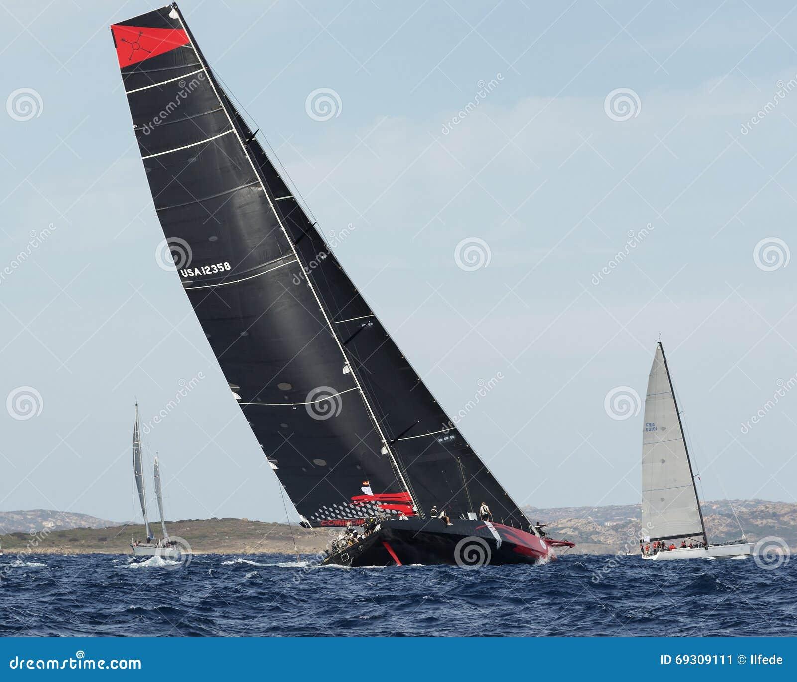 Comanche przy Maksią jachtu Rolex filiżanki żagla łódkowatą rasą