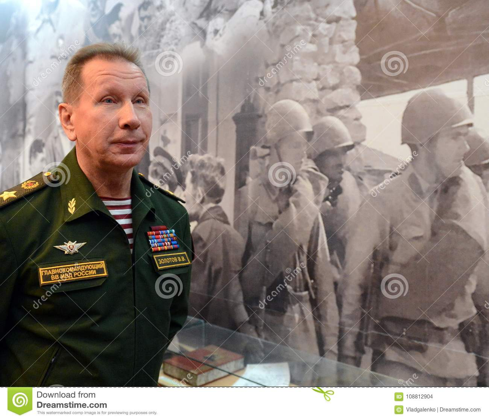 Comandante-chefe das tropas internas do ministério dos assuntos internos de Rússia, general do exército Viktor Zolotov