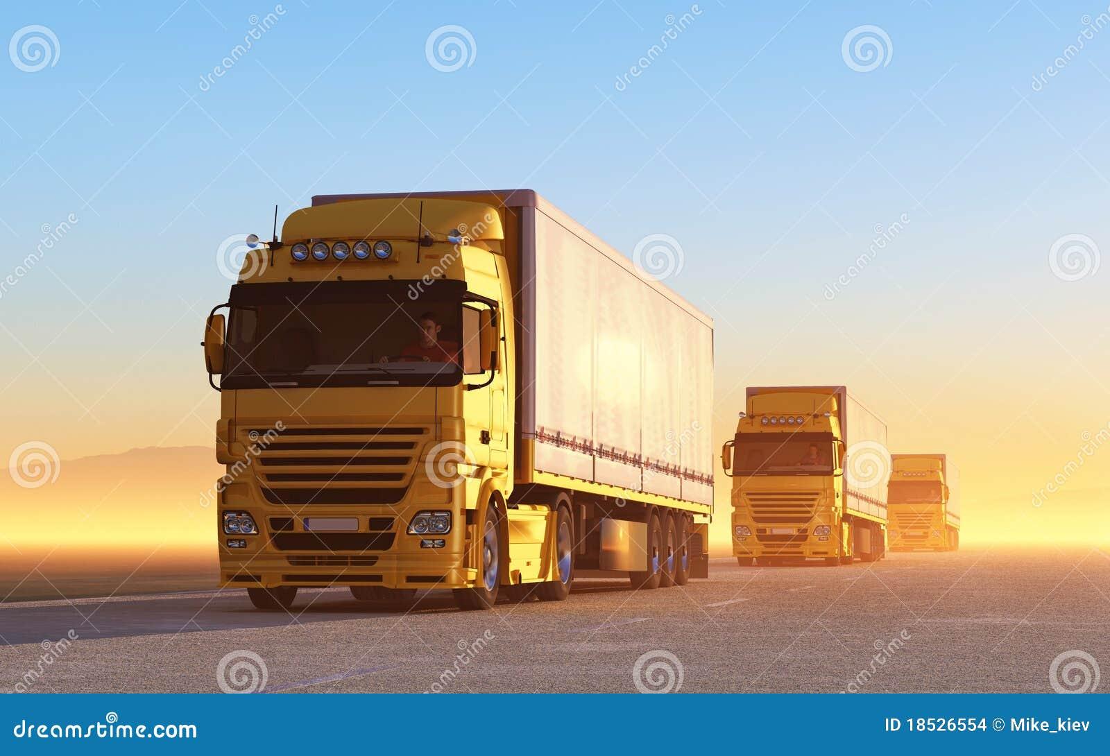 Combóio de caminhões