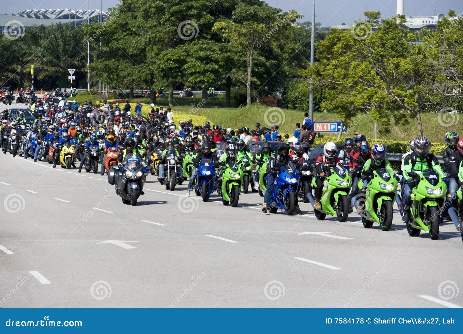 Combóio do motociclista de Motogp