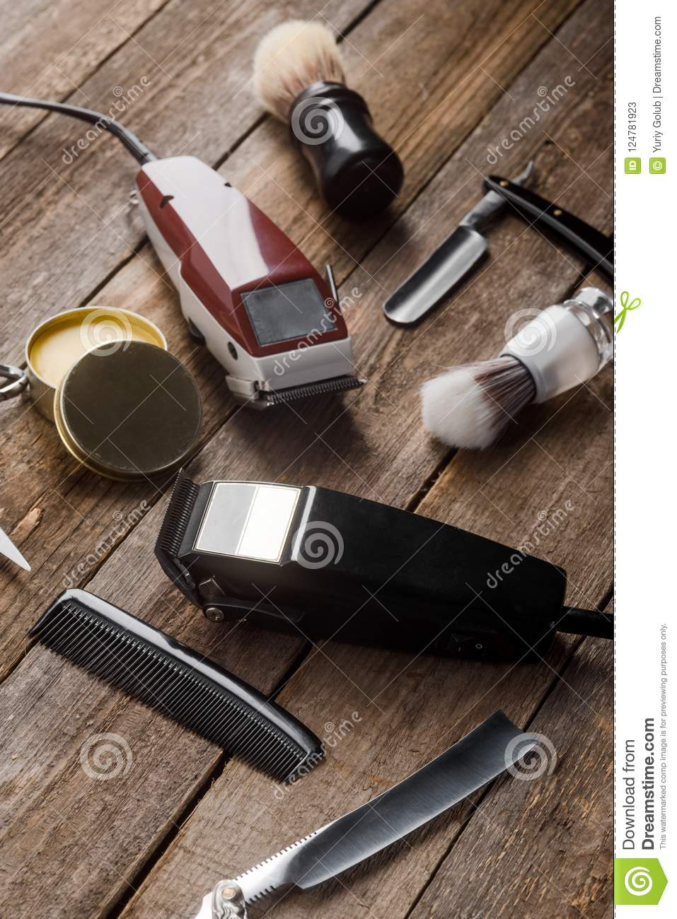 Electric hair trimmers and brushes