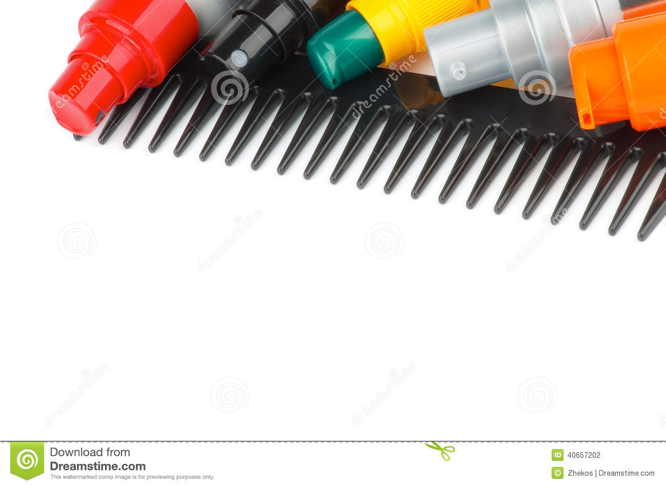 Comb And Hair Styling Products Stock Photo - Image: 40657202
