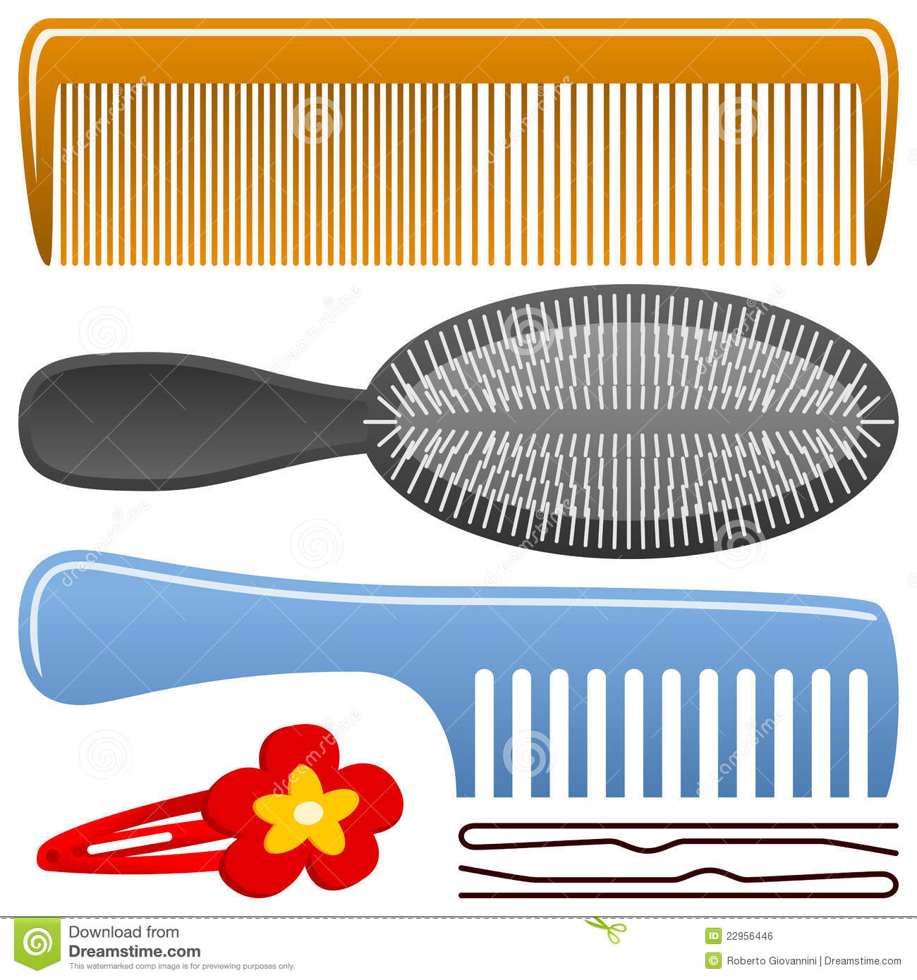 Hairbrush Stock Illustrations – 1,760 Hairbrush Stock ...
