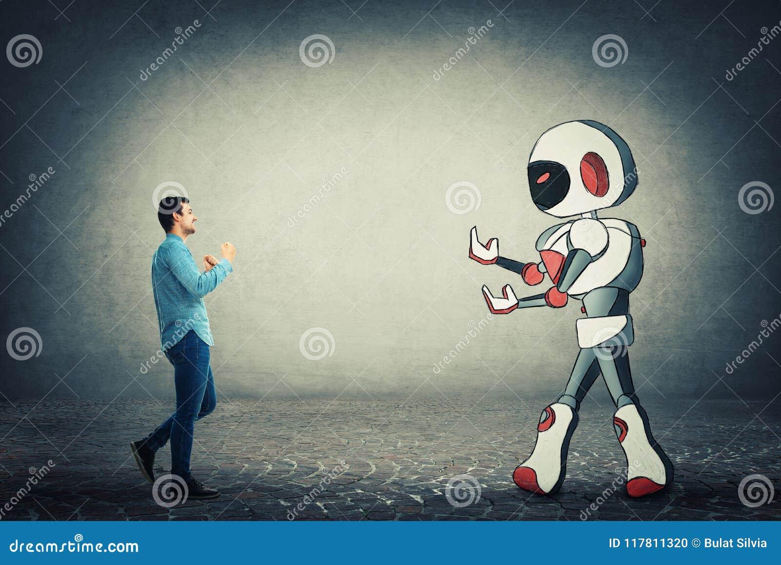 Combat contre le robot