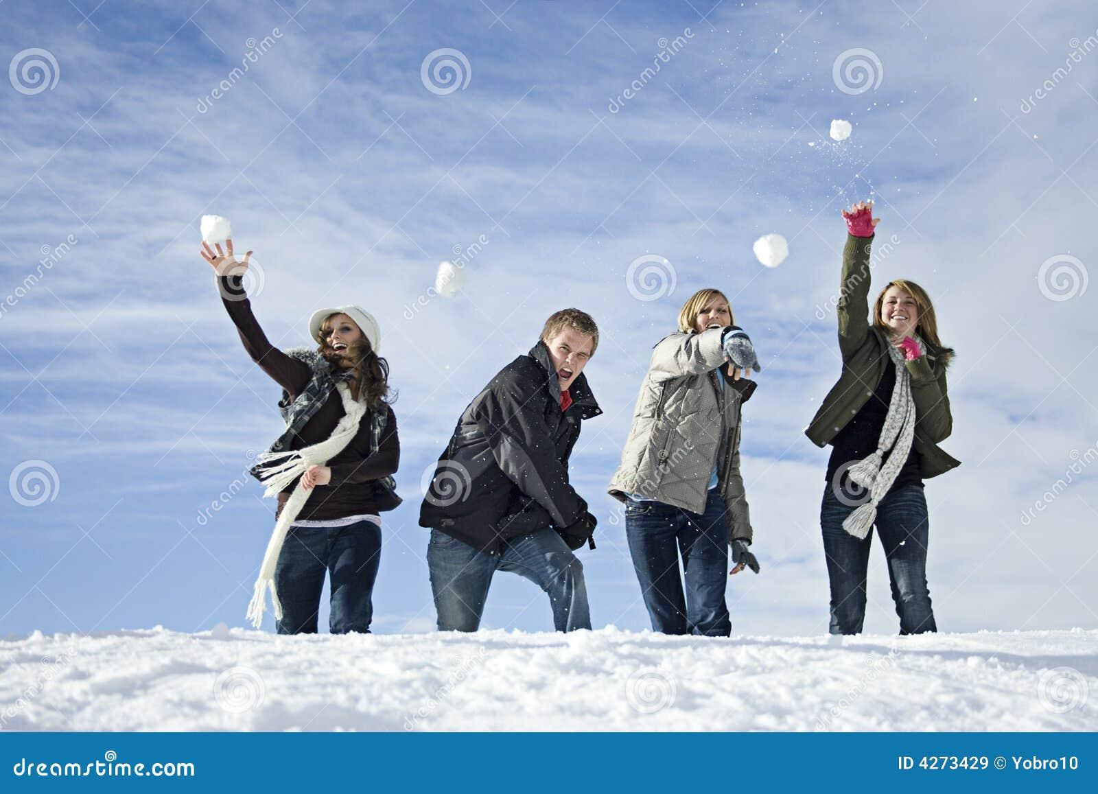 Combat de boule de neige