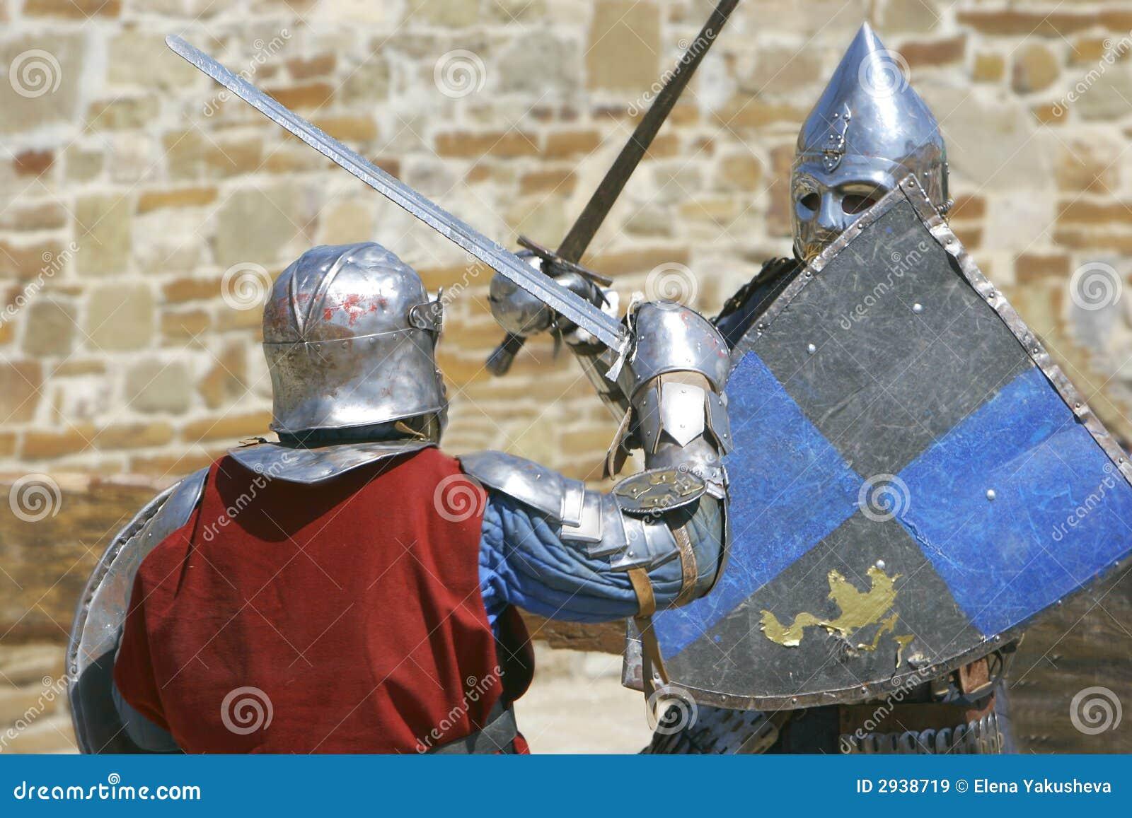 combat de deux chevaliers images libres de droits image 2938719. Black Bedroom Furniture Sets. Home Design Ideas