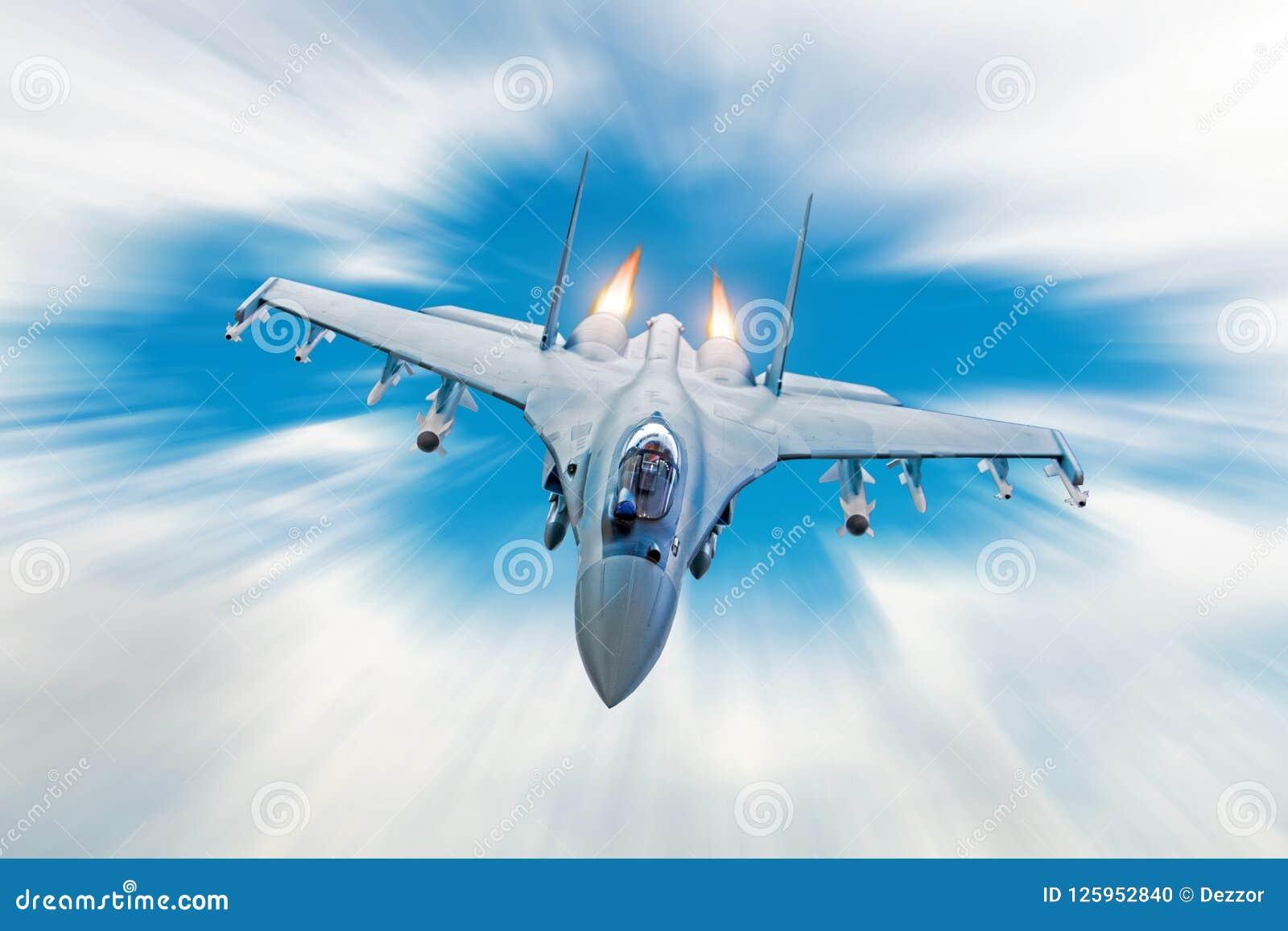Combata o avião de combate em uma missão militar com armas - foguetes, bombas, armas nas asas, na alta velocidade com o engi do d