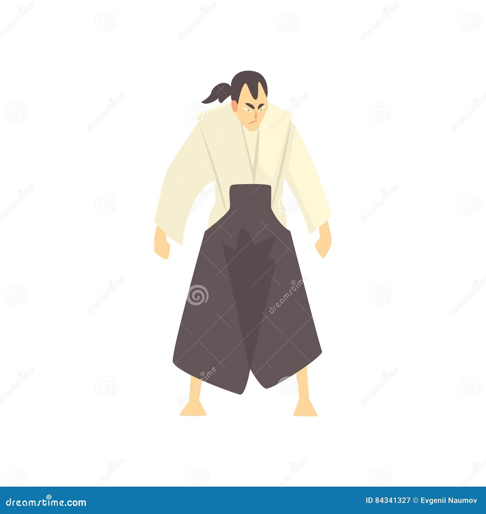 Combat Japonais combattant samouraï japonais d'arts martiaux, sports de combat