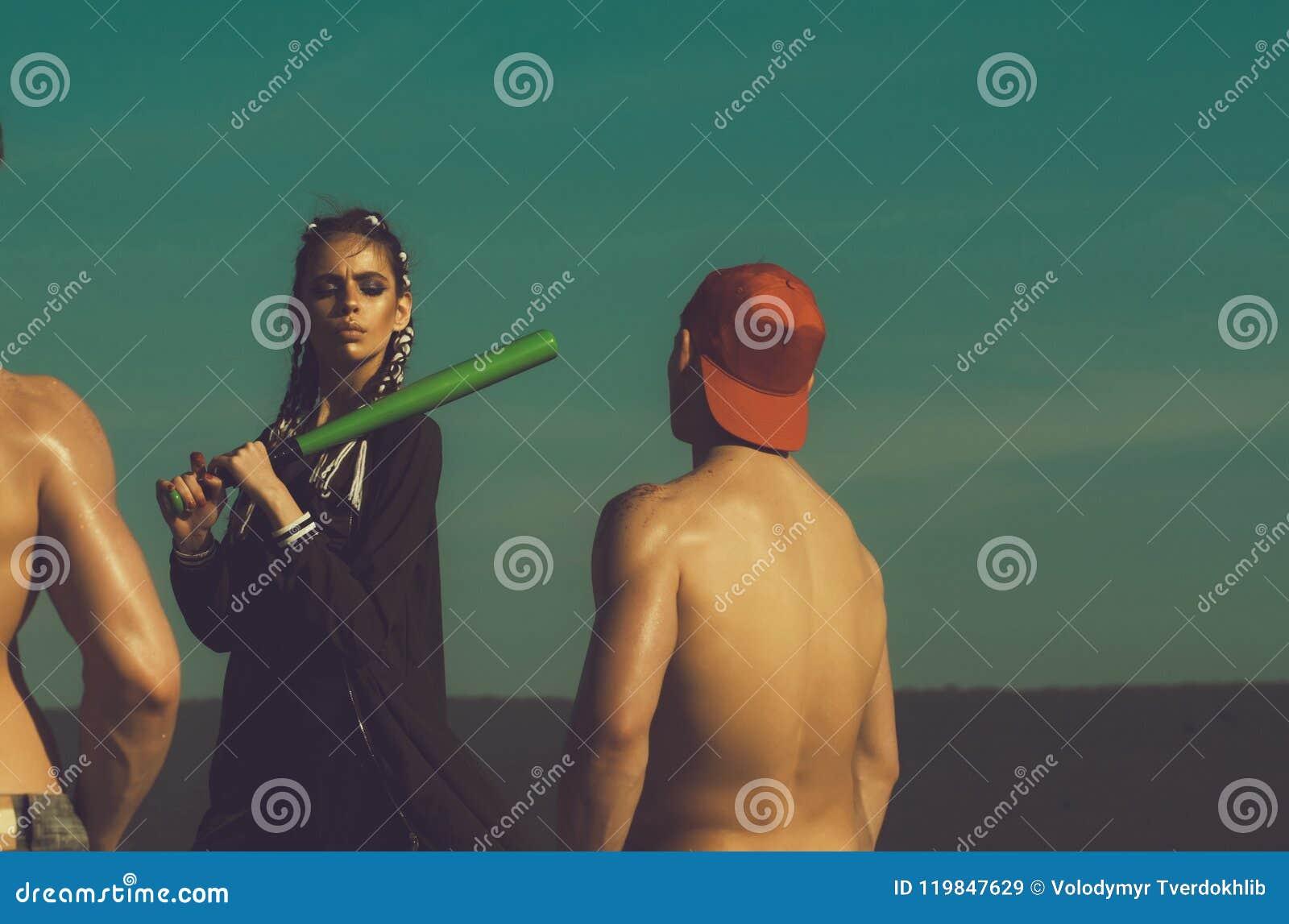 Baseball De Joueurs Des Hommes Musculaires Et Rue Combattants E29IeWYHD
