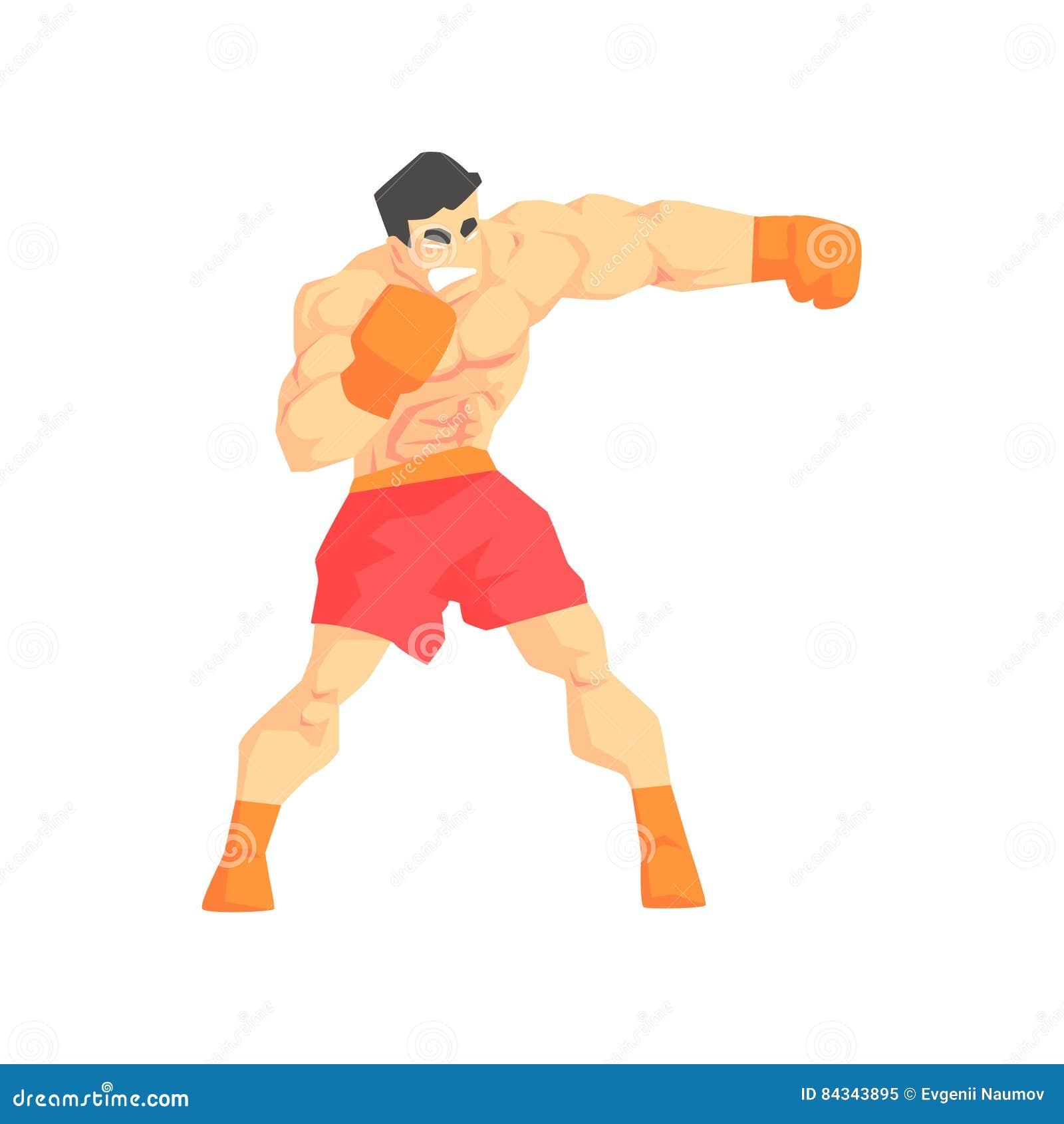 Combattente di arti marziali di pugilato dell uomo di Muscly, sport di combattimento professionali in abbigliamento allegro di co