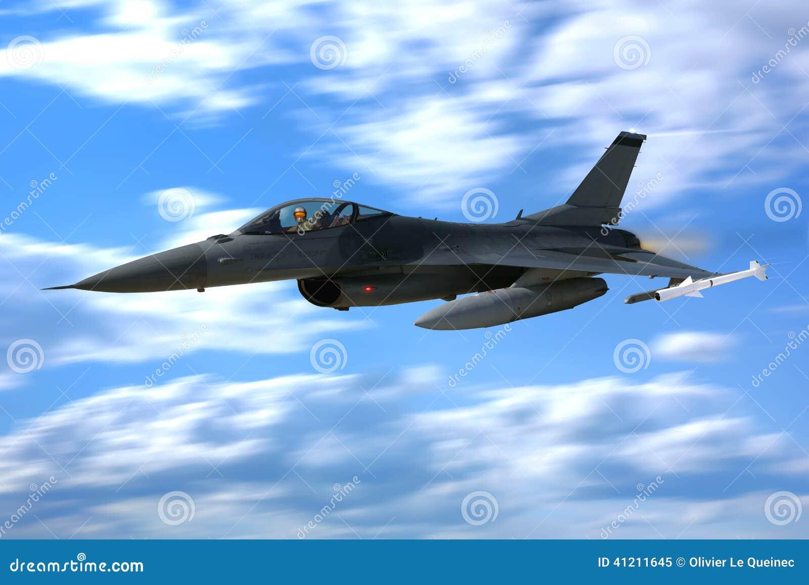 Aereo Da Caccia Falco : Combattente jet plane flying del falco di combattimento f