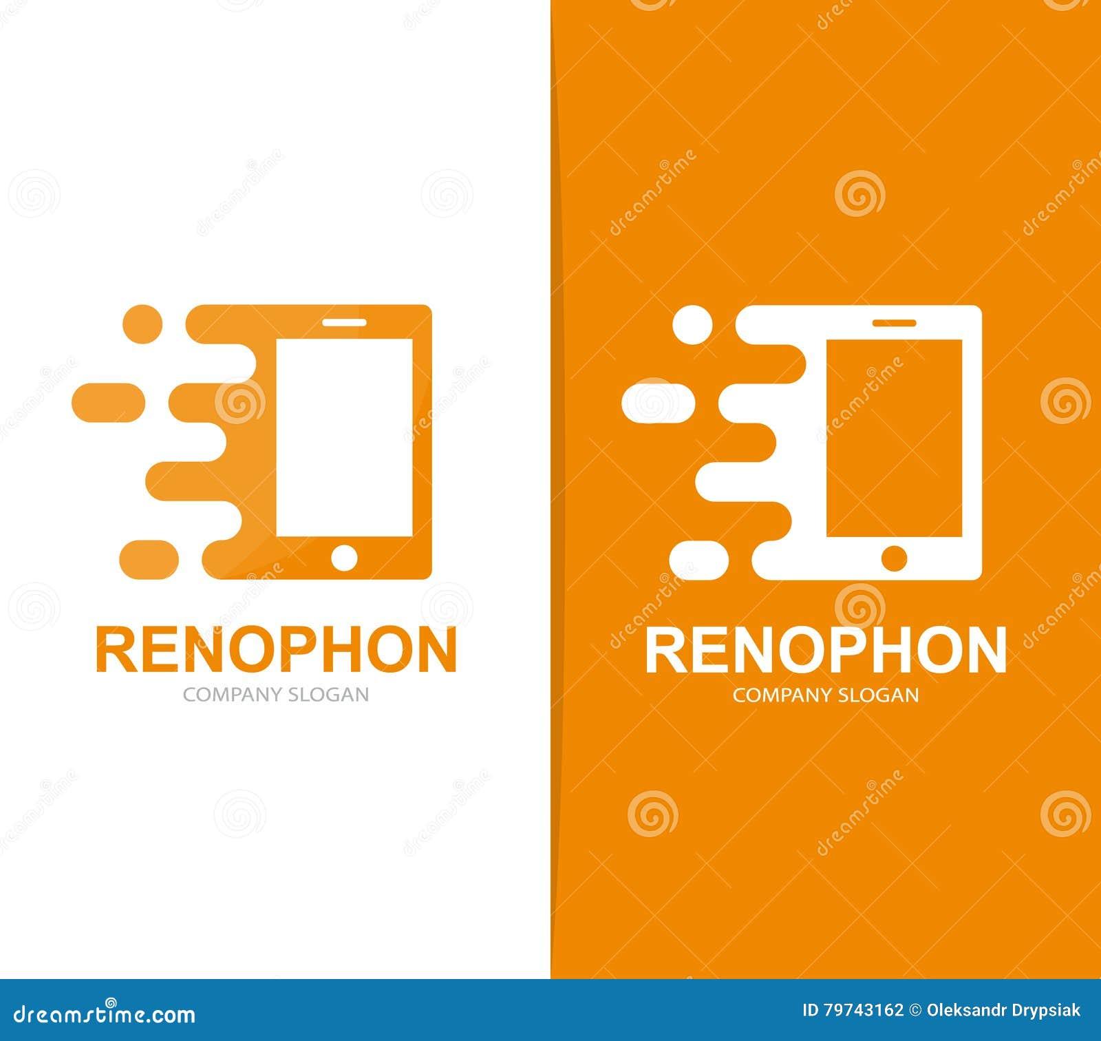 Combinación elegante rápida del logotipo del teléfono del vector Símbolo o icono móvil de la velocidad Diseño social y digital ún