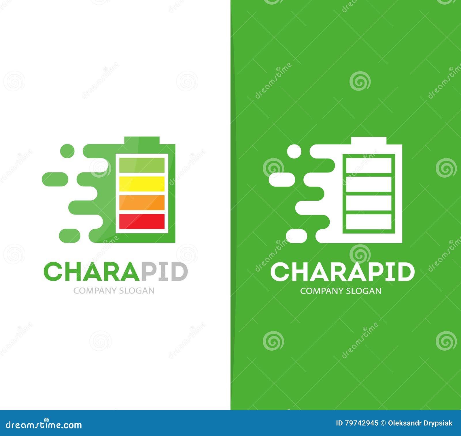 Combinación rápida del logotipo de la batería del vector Símbolo o icono de la energía de la velocidad Diseño eléctrico y del acu