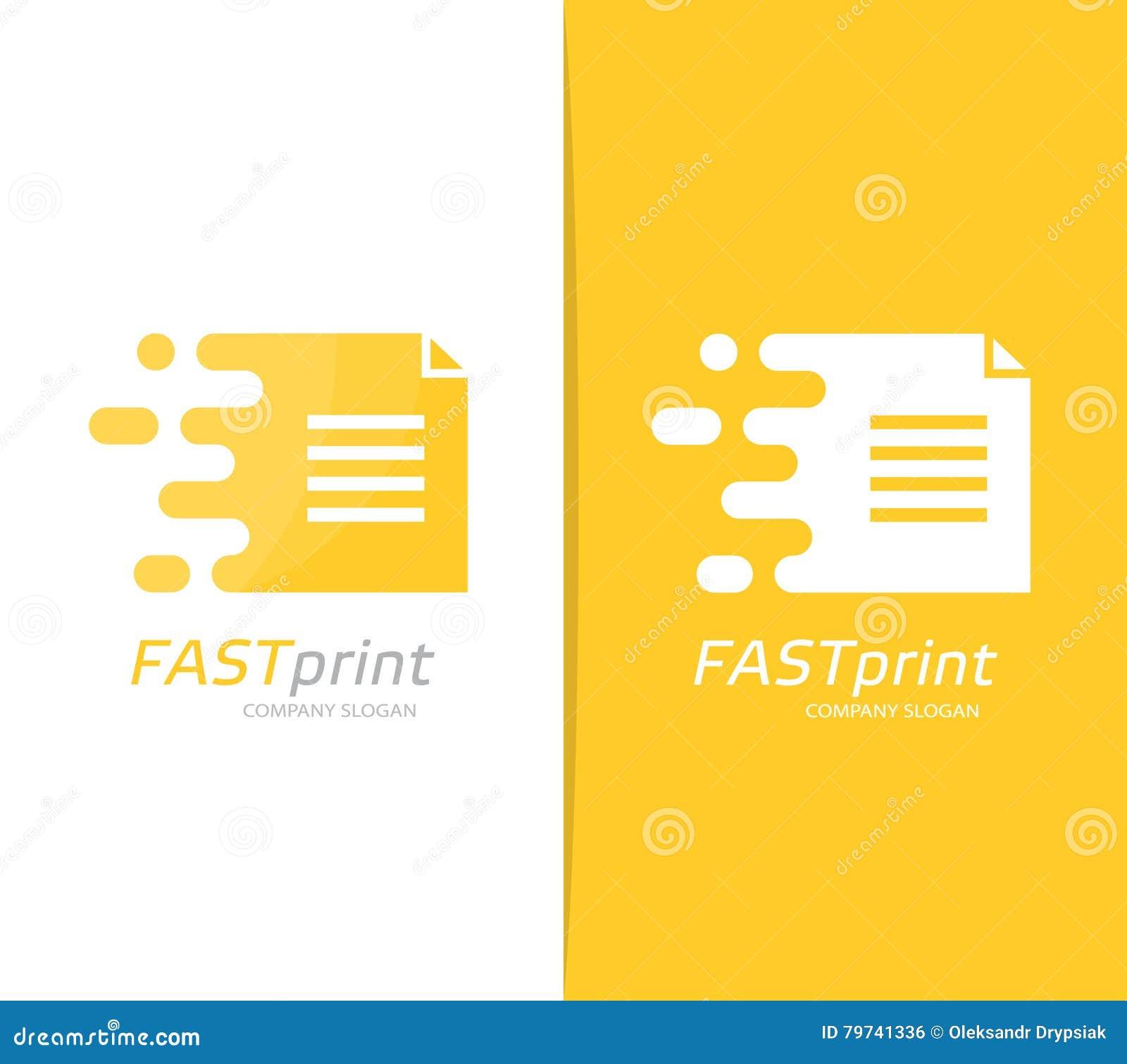 Combinación rápida del logotipo del fichero del vector Símbolo o icono del documento de la velocidad Plantilla única de la página
