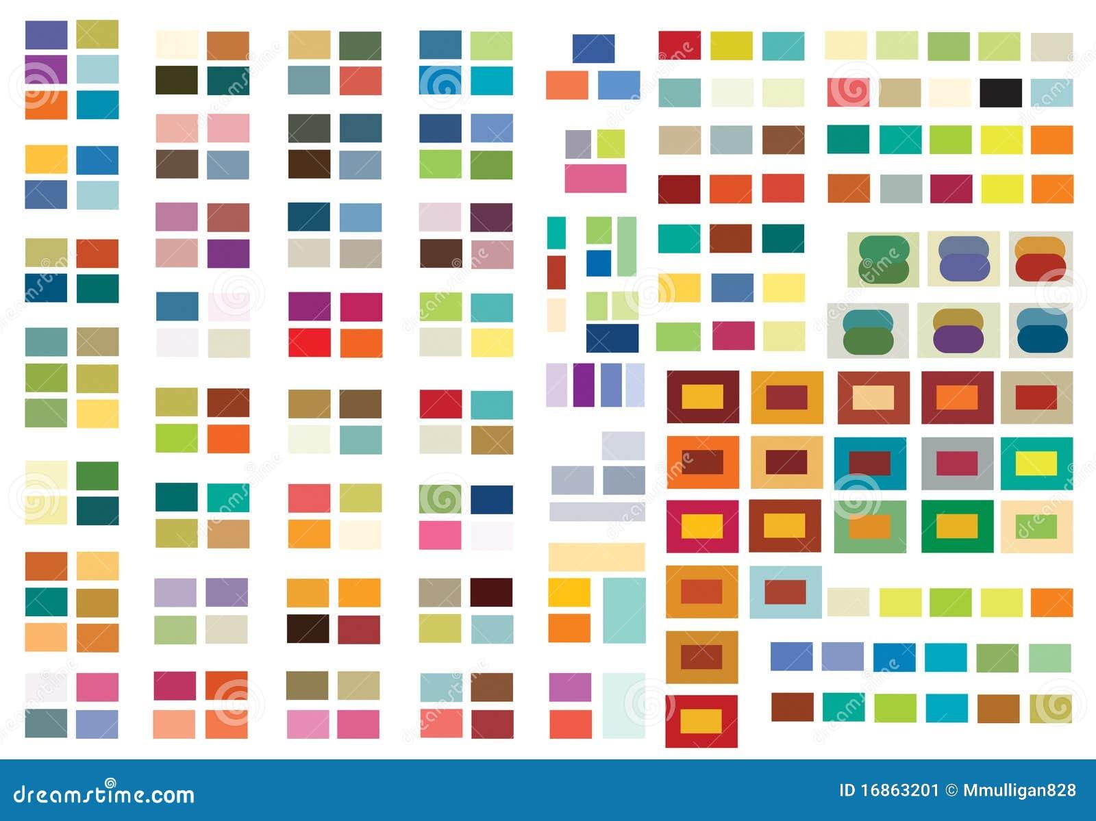 Combinaisons De Couleur D 39 Impression Ou Web Image Stock