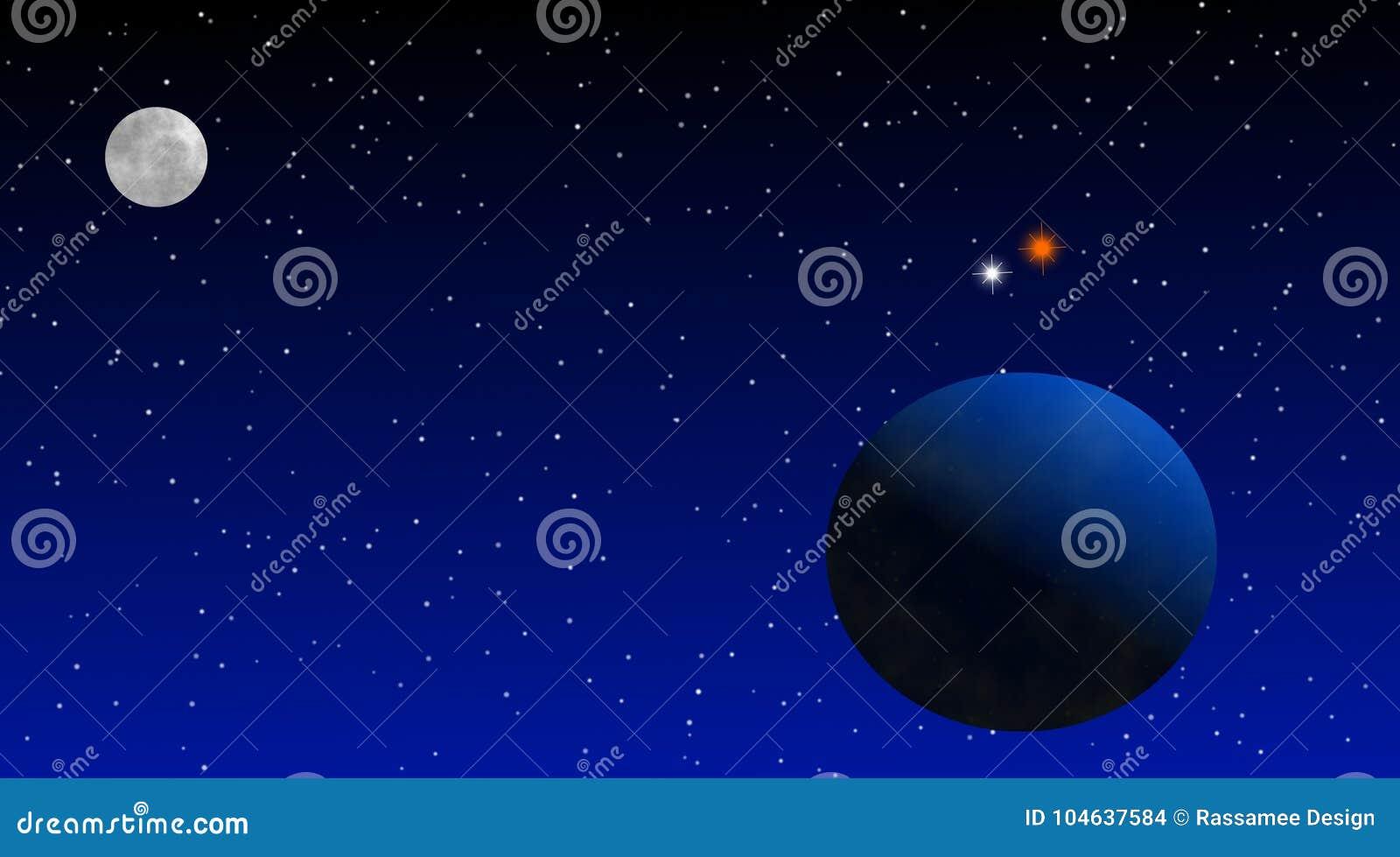 Download Combinatie Van Venus En Jupiter In Ruimteontwerp Stock Illustratie - Illustratie bestaande uit astronomie, shining: 104637584