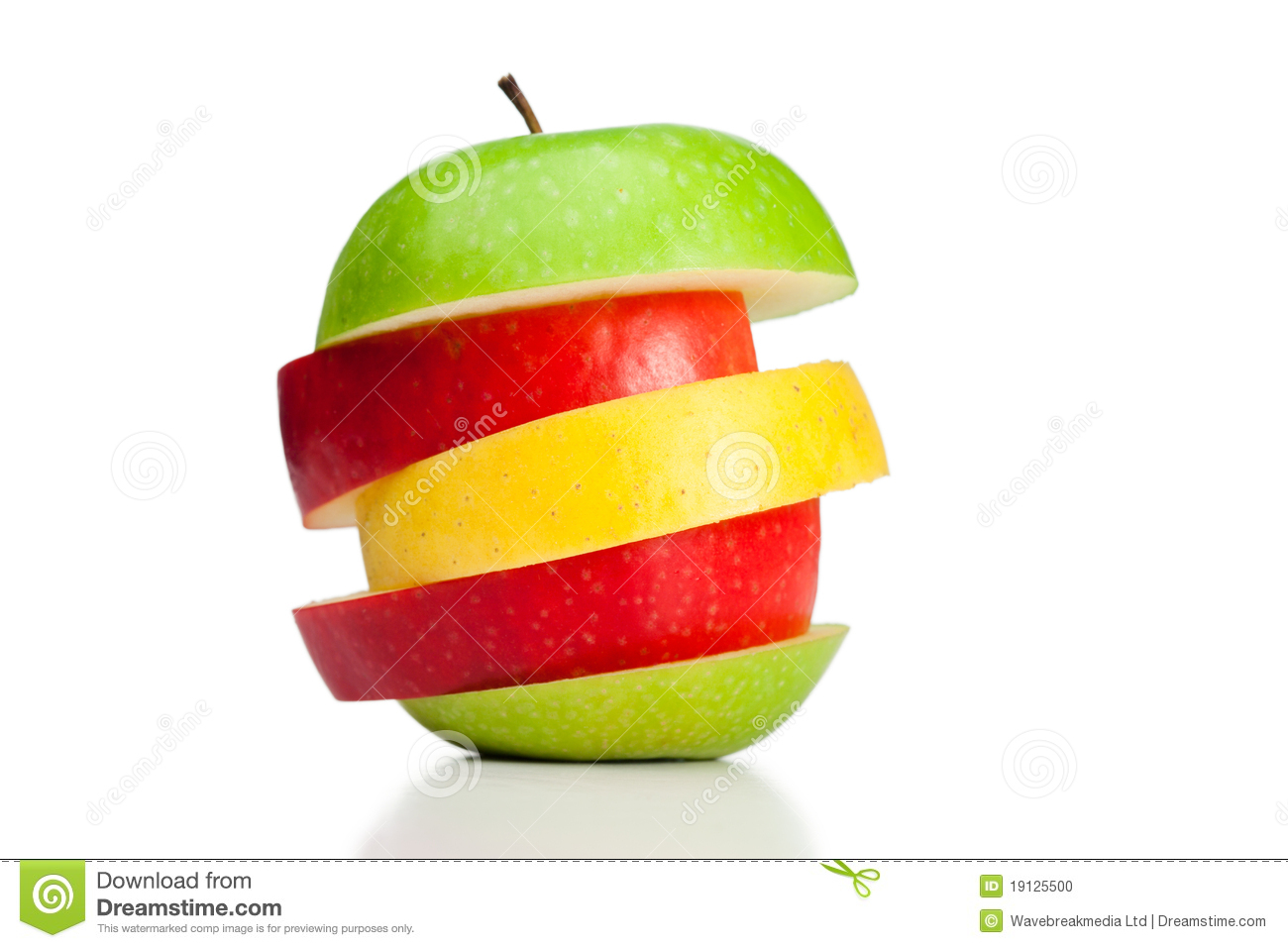 Combination of green yellow and red apples stock photo image of diet agriculture 19125500 - Good combination for green ...