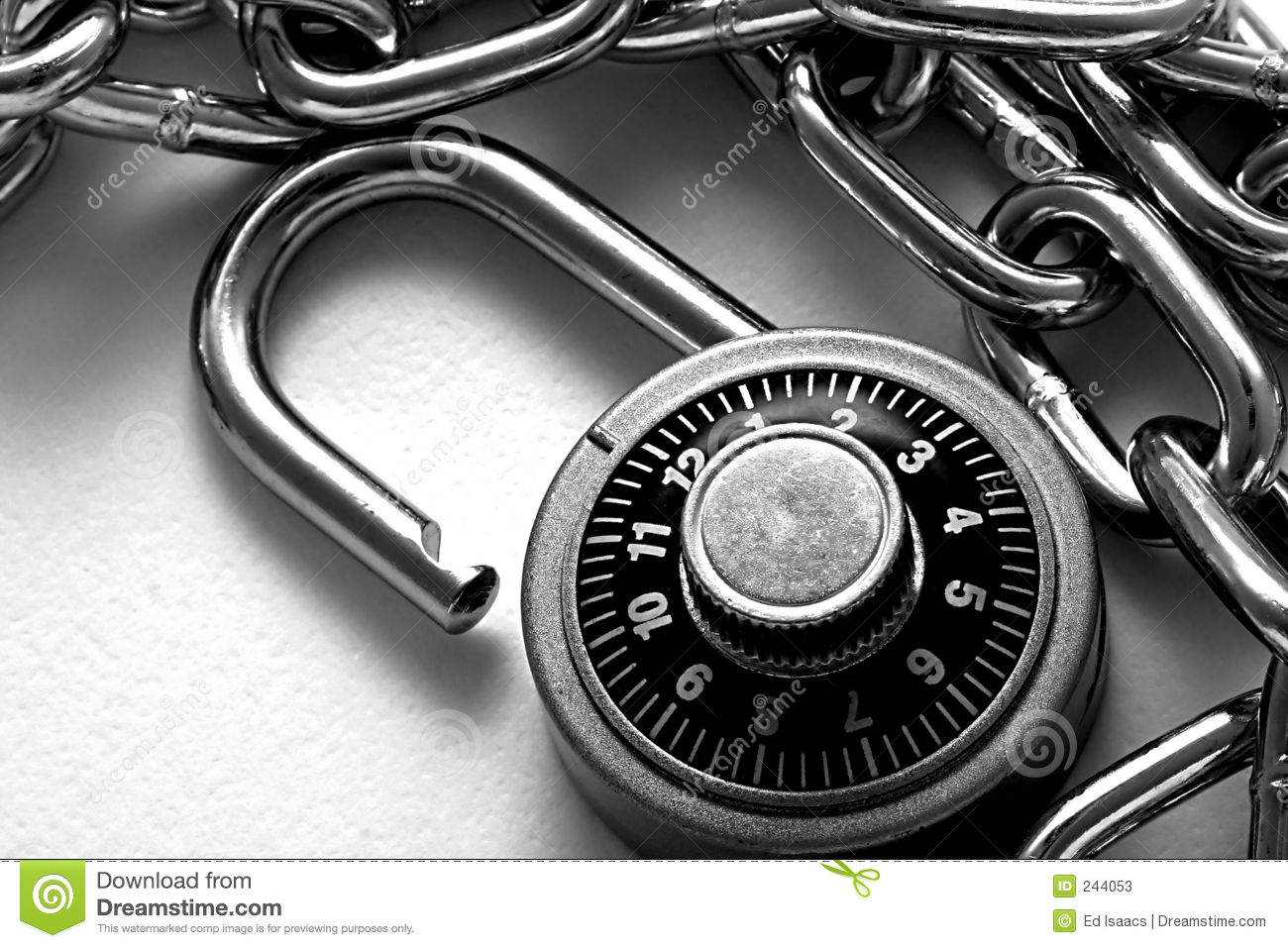 Combination lock stock photos image 244053 - How to open chain lock ...