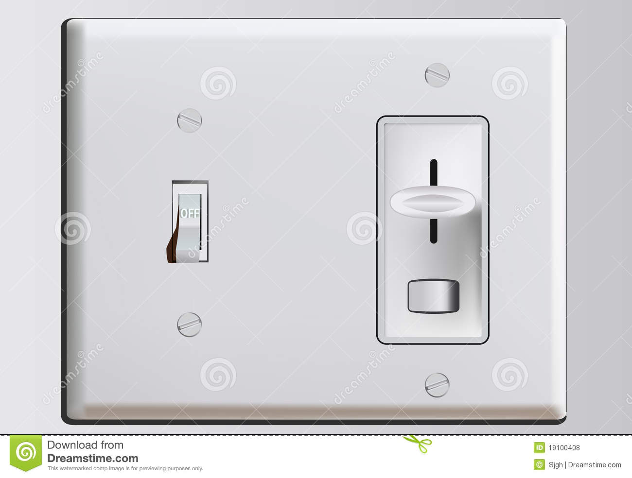 Royalty Free Stock Photos  bination Switch Plate Dimmer Image19100408 on electric circuit light