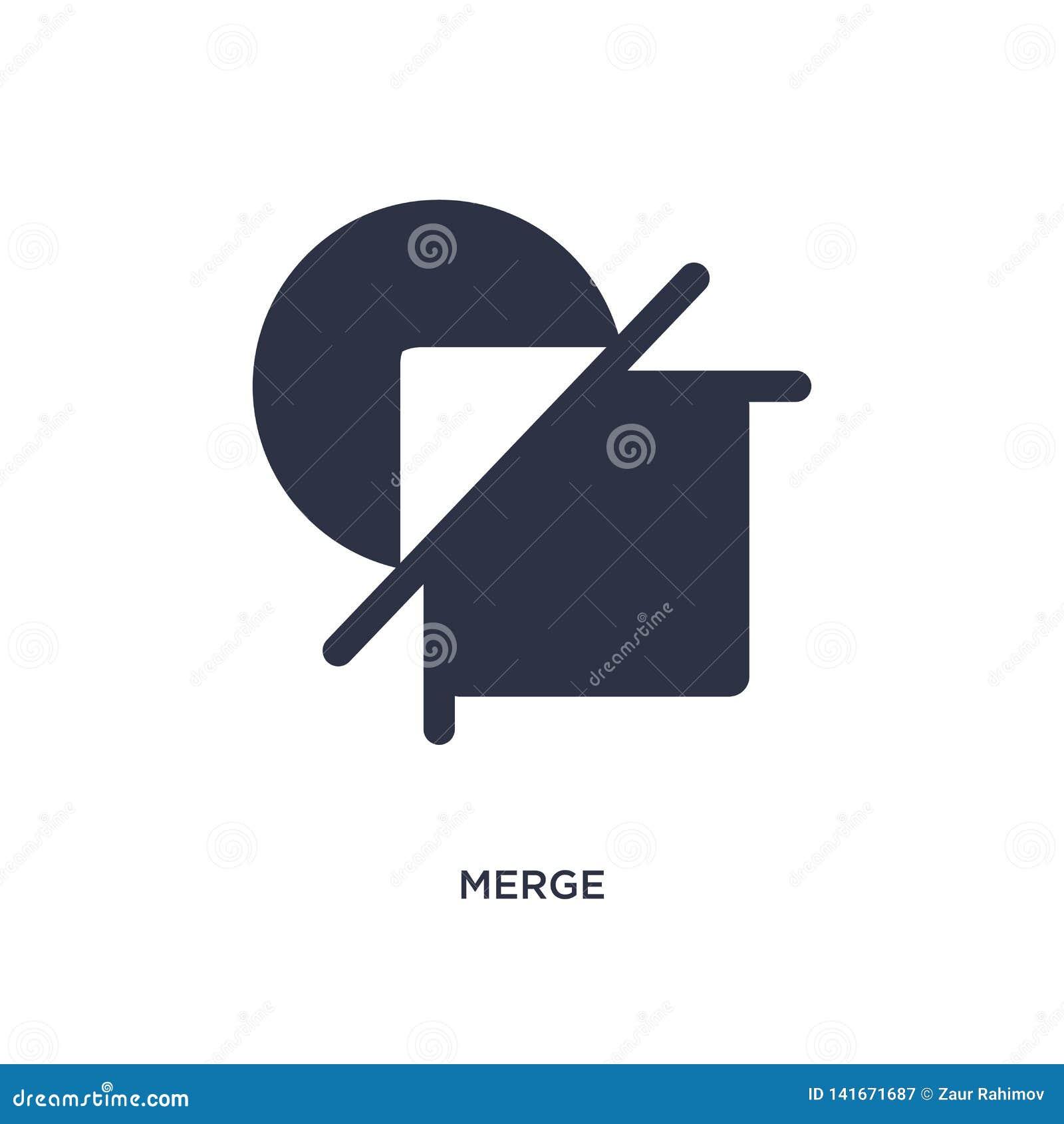 Combine el icono en el fondo blanco Ejemplo simple del elemento de la figura geométrica concepto