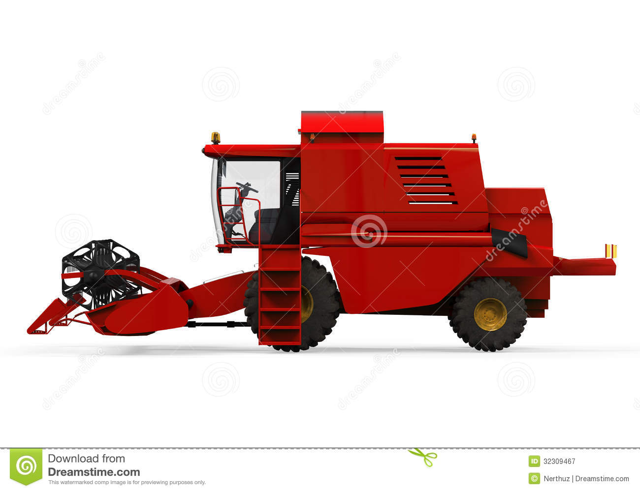 combine harvester isolated stock illustration  image of harvester