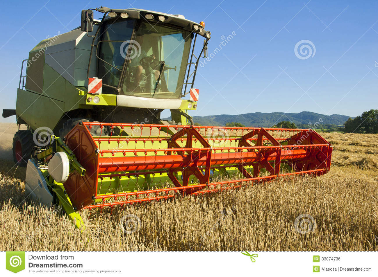 Combine Harvester Royalty Free Stock Image Image 33074736