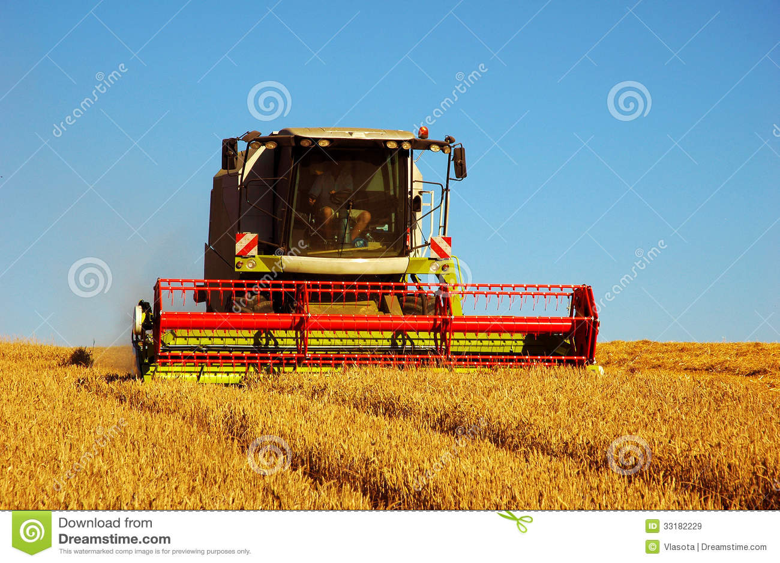 combine harvester stock image  image of farm  equipement