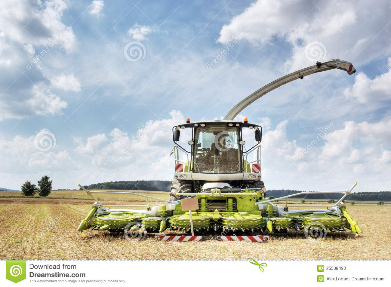 combine harvester and thresher stock image