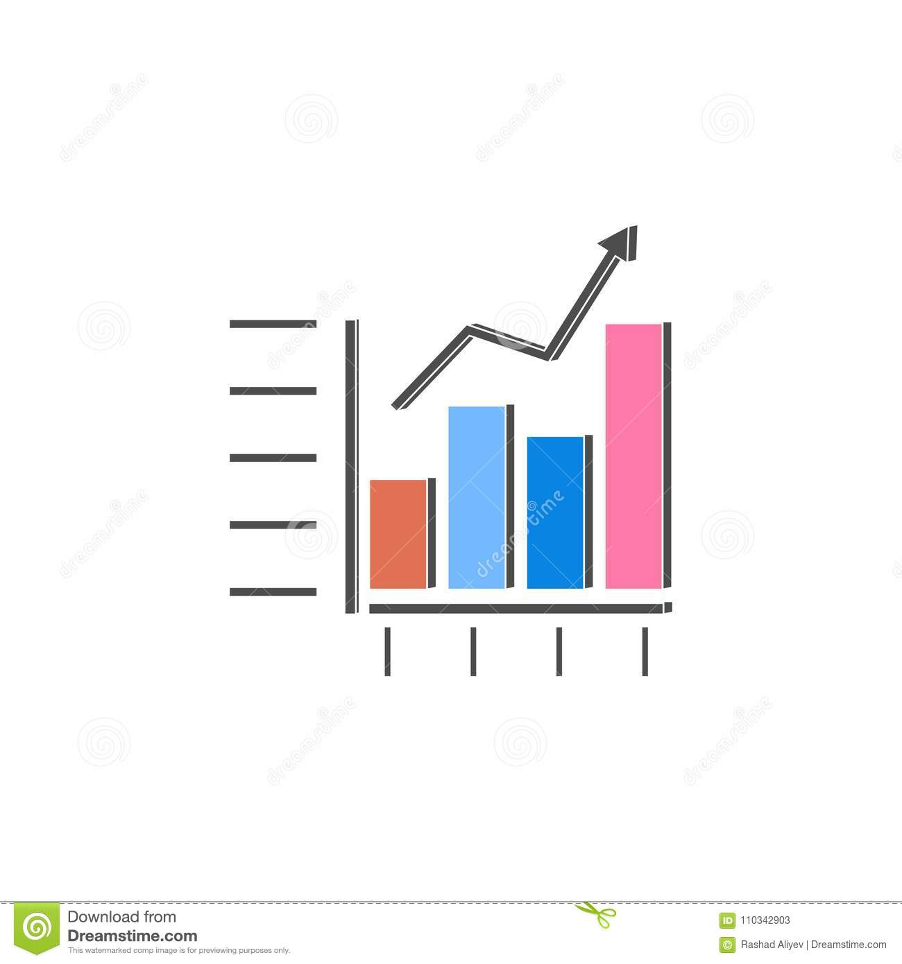 Combined chart icon element of colored charts and diagrams for download combined chart icon element of colored charts and diagrams for mobile concept and web ccuart Gallery
